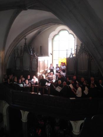 Na kůru kostela sv. Vojtěcha