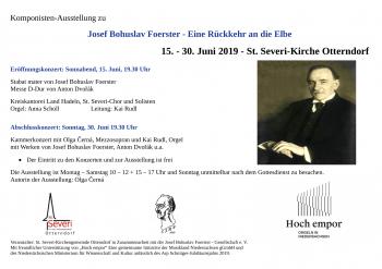 Foerster Ausstellung und Konzerte Einladung Otterndorf-1