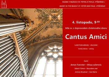 Mše sv. s doprovodem chrámového sboru Cantus Amici